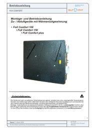 Betriebsanleitung FoX Comfort - GLT Austria