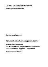 Kommentiertes Vorlesungsverzeichnis zum Master-Studiengang ...