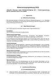 Wasserversorgungssatzung (WVS) - Gemeinde Brechen