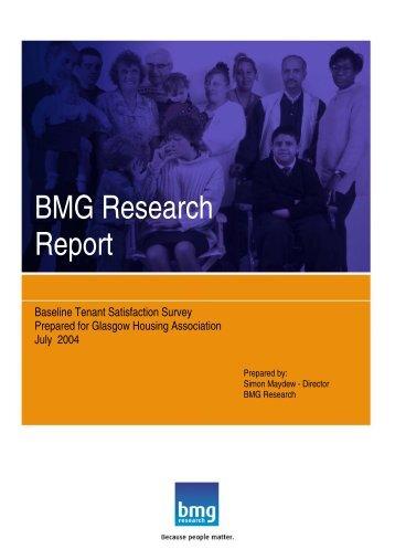 Baseline Tenant Satisfaction Survey - Glasgow Housing Association
