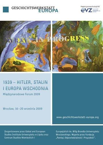 1939 – hitler, stalin i europa wschodnia - Geschichtswerkstatt Europa