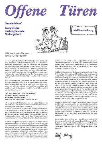 Mai/Juni/Juli - Evangelische Kirchengemeinde Neckargartach