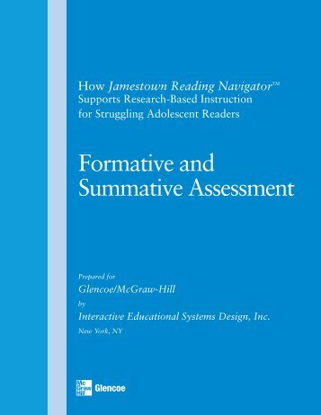 Formative and Summative Assessment - Jamestown Reading ...