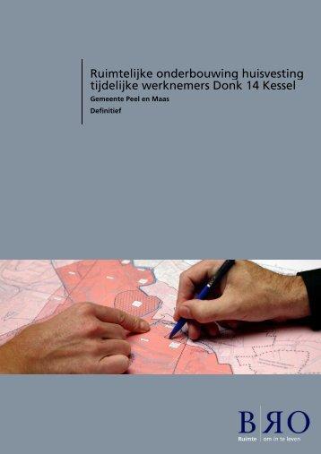 Bijlage 18 Ruimtelijke onderbouwing en onderzoeken Donk 14 Kessel