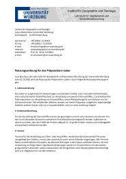 Nutzungsordnung zum Dünnschliff-Labor - Geographie - Universität ...