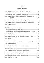 1924 Inhaltsverzeichnis
