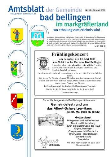 Hilfe Im Trauerfall Gemeinde Bad Bellingen