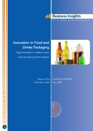 Innovation in Food and Drinks Packaging ... - Business Insights