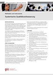 Factsheetmaske, 2-seitig, OE 41 - Wirtschaft und ... - GIZ