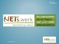 NETs.werk Steyr – Nachhaltig einkaufen - Gemeindeentwicklung