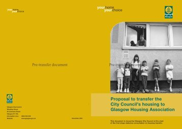 Stage 1 Consultation Document - Glasgow Housing Association