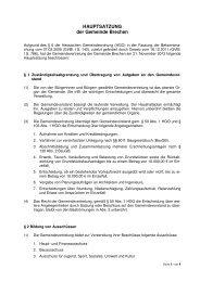 HAUPTSATZUNG der Gemeinde Brechen