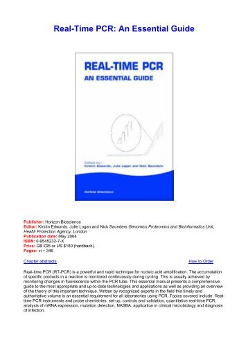 Real-Time PCR: An Essential Guide