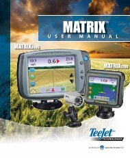 TeeJet Matrix Pro 570GS with standard antenna GPS Lightbar and ClearPath