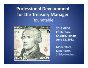 Professional Development for the Treasury Manager
