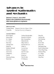 Editorial Board - Global Science Press