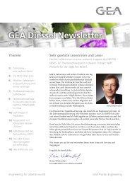 GEA Diessel Newsletter - GEA Diessel GmbH