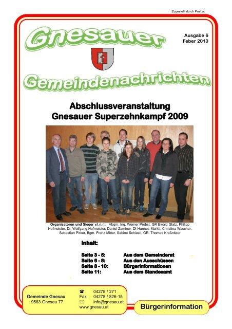 Ausgabe 6 - Februar 2010 - Gemeinde Gnesau