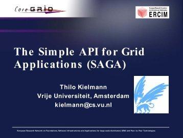 The Simple API for Grid Applications (SAGA) - IVOA