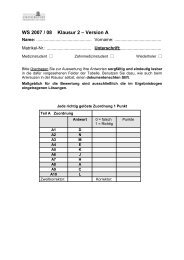 WS 2007 / 08 Klausur 2 – Version A - gemeinsamelistemedizin