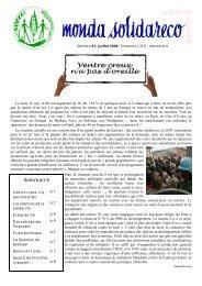 Sommaire - Solidarité Mondiale contre la Faim