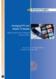 Emerging IPTV and Mobile TV Models: Market ... - Business Insights