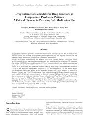 Drug Interactions and Adverse Drug Reactions in Hospitalized ...