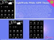 LightWorks White ADW Theme - Get Mobile game