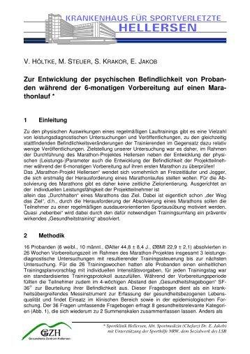 Zur Entwicklung der psychischen Befindlichkeit von Probanden ...