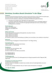 Workshop: Grundkurs Basale Stimulation® in der Pflege - GFG