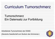 Curriculum Tumorschmerz - Gesundheitsnetz Ostalbkreis