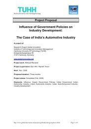 Influence of Government Policies on Industry ... - Global Innovation