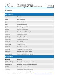 85 keyboard shortcuts for moving faster in Microsoft Excel