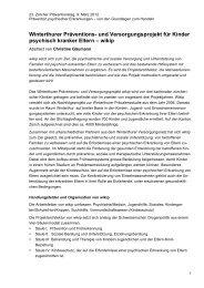 Winterthurer Präventions- und Versorgungsprojekt für Kinder ...