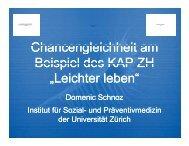 """""""Leichter leben"""" (PDF, 784 kB) - Gesundheitsförderung Schweiz"""