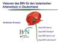 Visionen des BfN für den botanischen Artenschutz in Deutschland ...