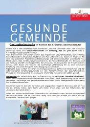 Gesundheitsstraße und Ortstafelverleihung in Grein - Netzwerk ...