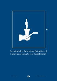 Food Processing Sector Supplement - Global Reporting Initiative