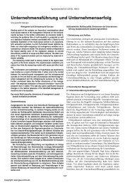 Unternehmensführung und Unternehmenserfolg - AgEcon Search