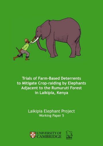 Laikipia Elephant Project Working Papers - University of Cambridge ...