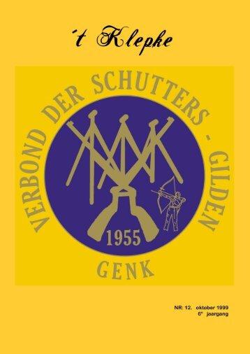 t Klepke nr. 12 oktober 1999 - Verbond der Schuttersgilden Genk