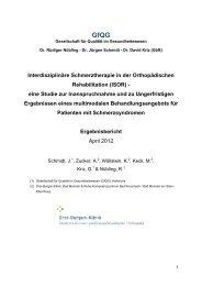 Interdisziplinäre Schmerztherapie in der Orthopädischen ... - GfQG