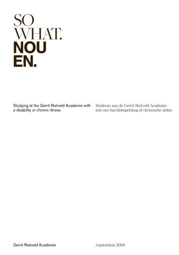 NOU EN? (pdf) - Gerrit Rietveld Academie