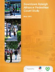 Pedestrian count study - Downtown Raleigh Alliance