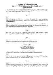 Satzung und Gebührenordnung über die P+R-Stellplätze in der ...