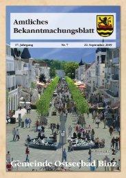 Nr. 7 vom 22. September 09 - Gemeinde Binz