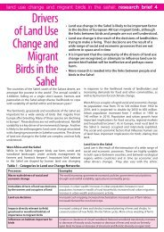 Drivers of Land Use Change and Migrant Birds in the Sahel