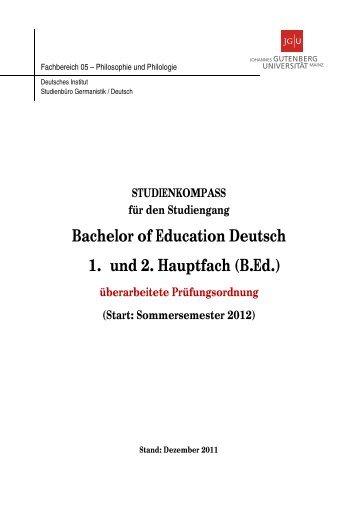 Studienkompass - Johannes Gutenberg-Universität Deutsches ...