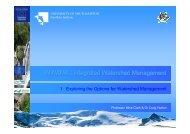 INWAMA 1 Management Options