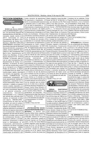 Seccion General Contratos Sociales Convoca Torias